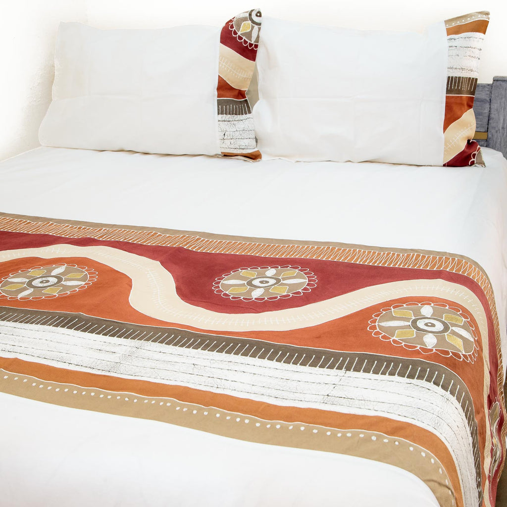 Hand-painted african print duvet cover