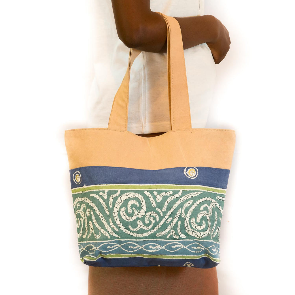 Hand-painted safari bags made in Africa