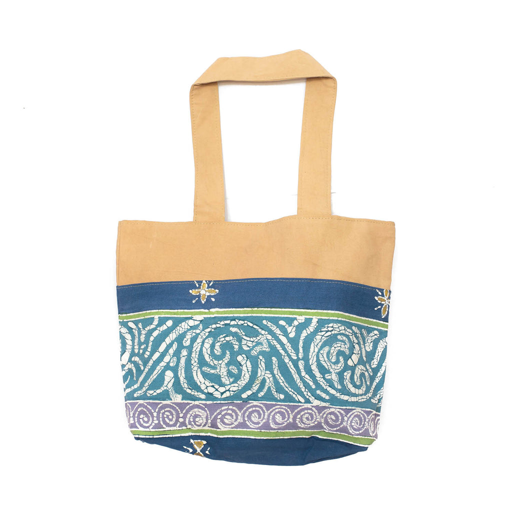 Hand-painted, fair-trade Contemporary Handbags Tribal Textiles, rural Zambia.