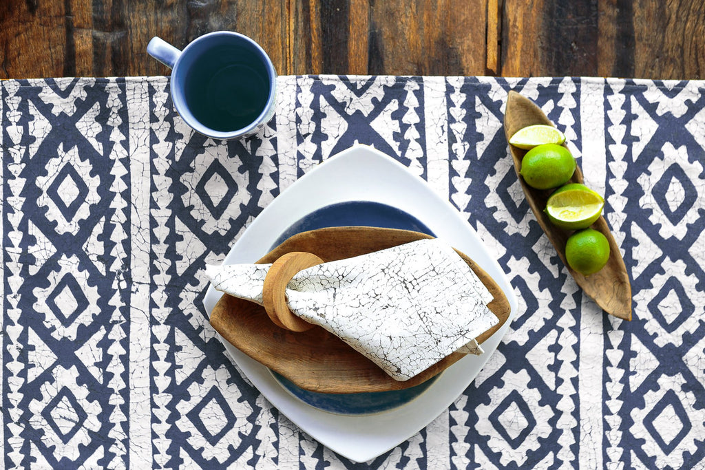 Table Mats - Moroccan Crackles Indigo