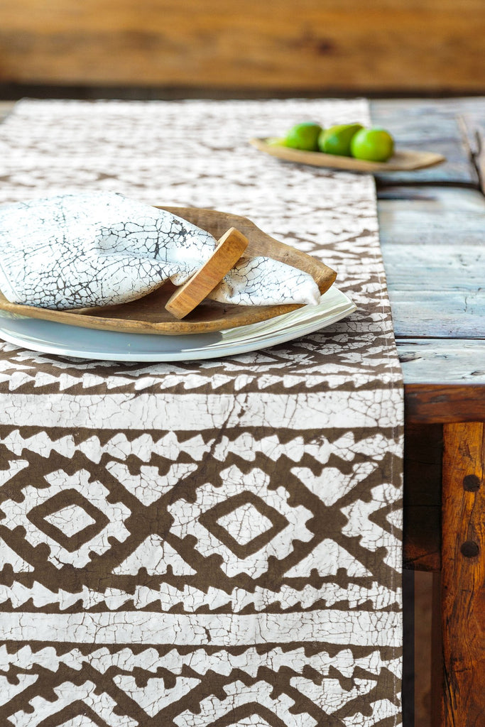 Table Runners - Moroccan Crackles Brown