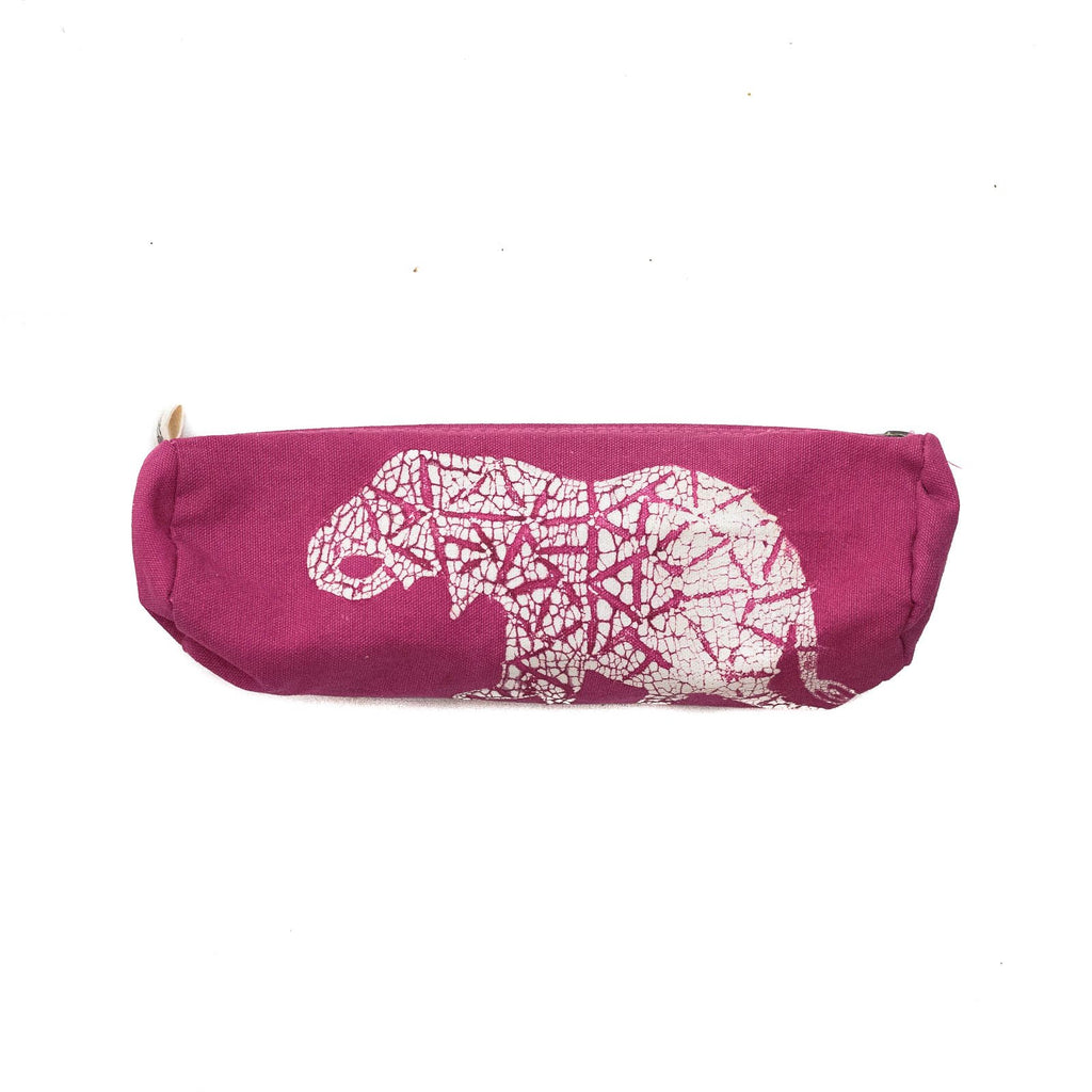Hand-made african Kids' pencil case with elephant