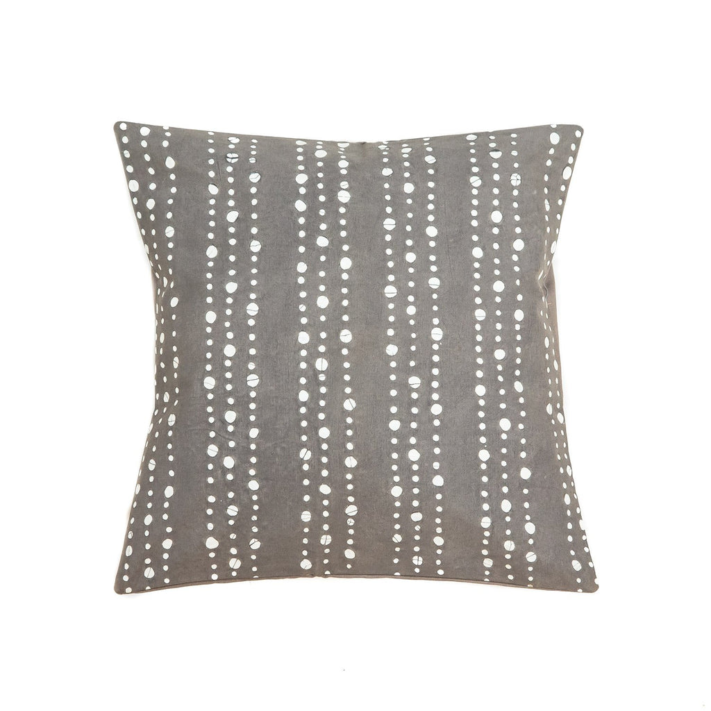 Throw Pillow with dots in dark grey colours