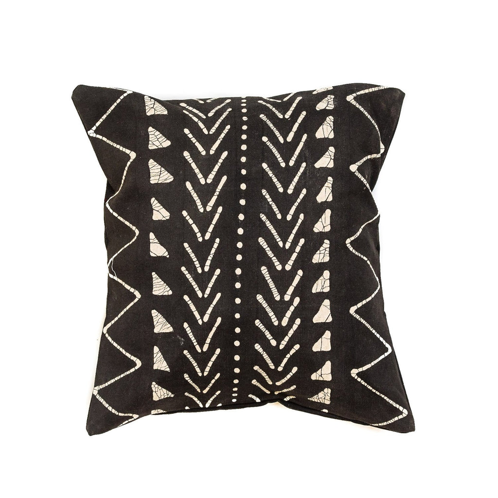 Throw Pillows - Matika - Black Linear