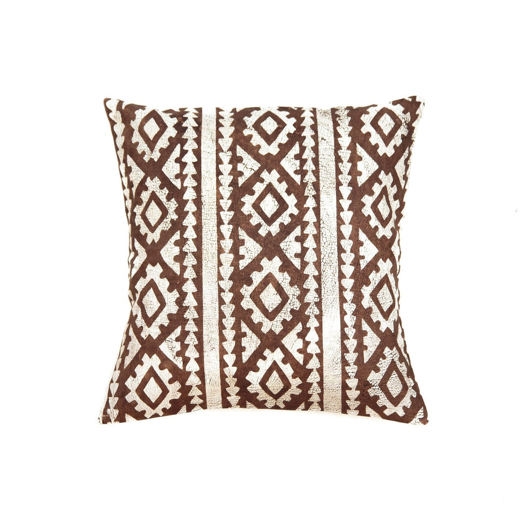 Throw Pillow with brown african print