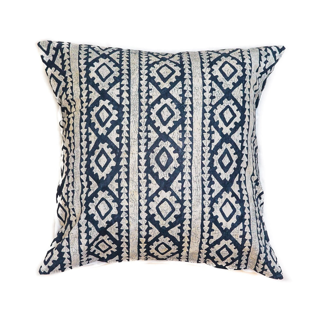 Throw Pillows - Moroccan Crackles Indigo