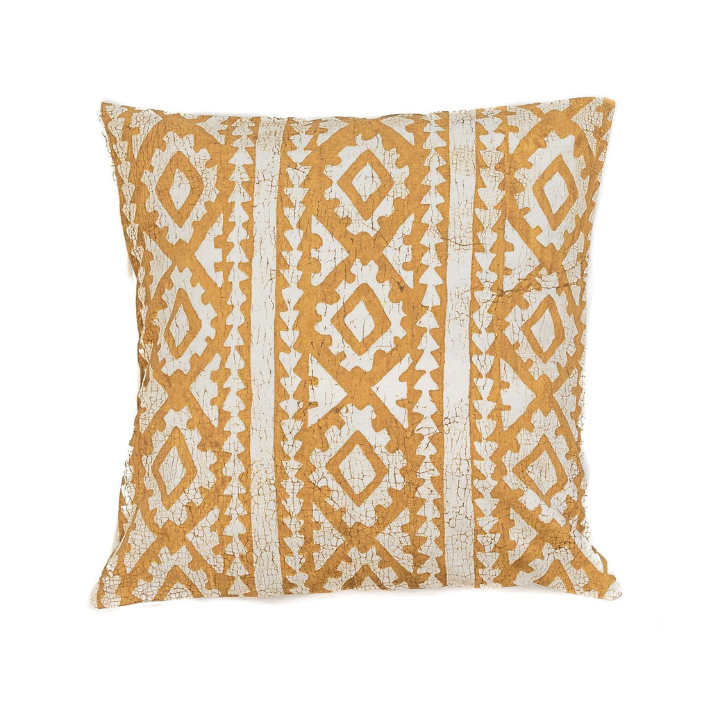 Throw Pillows - Moroccan Crackles Mustard