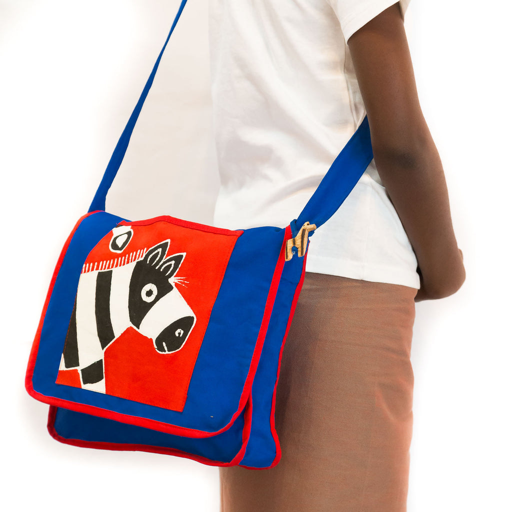 Hand-painted, fair-trade Kids' Satchels Tribal Textiles, rural Zambia.