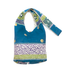 Hand-painted, fair-trade Contemporary Sling Bags Tribal Textiles, rural Zambia.