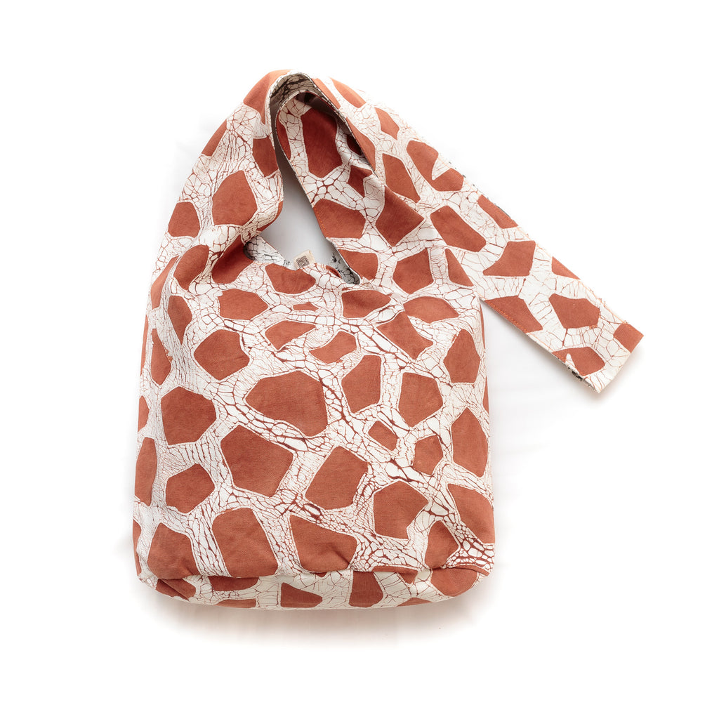 Hand-painted sling Bags with giraffe print