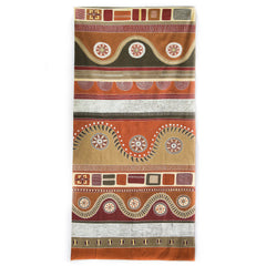 Hand made african tablecloth design with fabric painting design