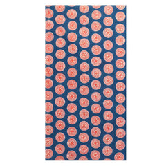 Hand made african tablecloth design with vibrant orange circles