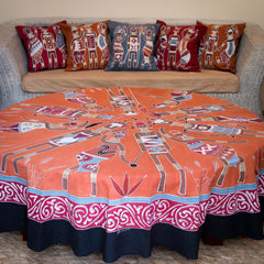 Hand-painted african Table cloths Round with massai