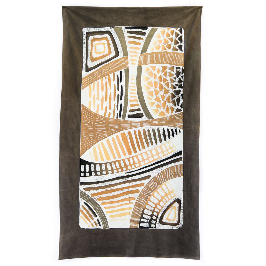 Hand made african tablecloth design with honeycomb design
