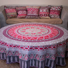 Hand-painted african Table cloths Round made by artisans