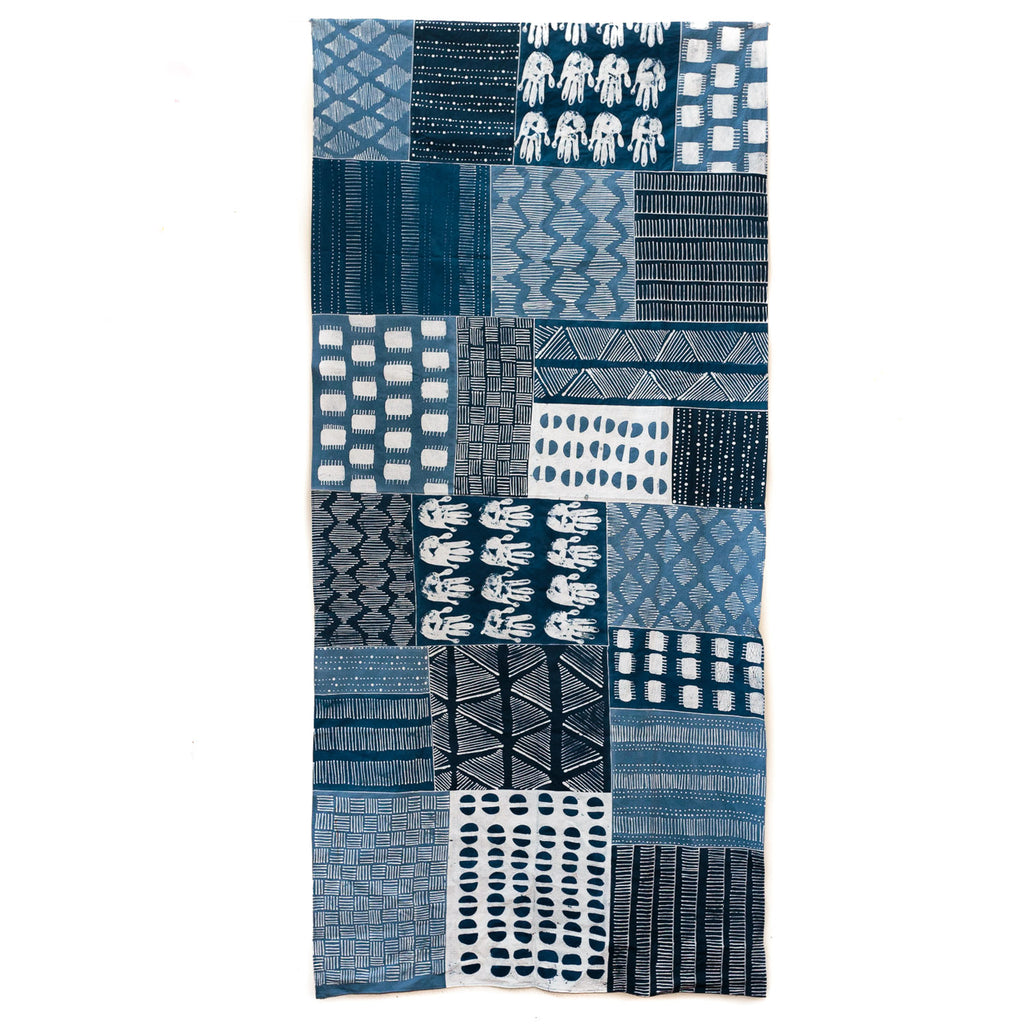 Tablecloth Indigo Patchwork Tribal Textiles - X Large