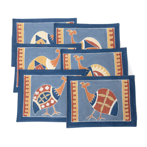 Table Mats ~ Guinea Fowl