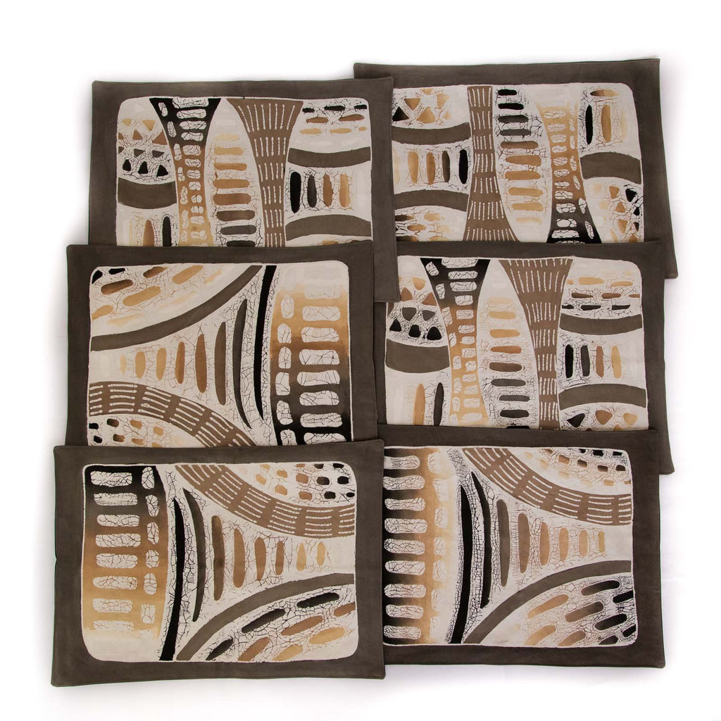 African placemats hand made with contemporary design