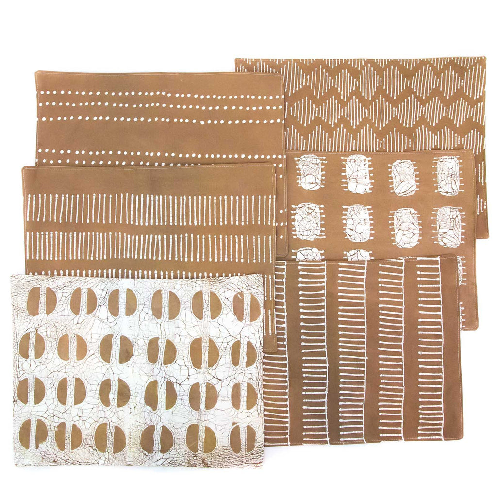 Hand-painted, fair-trade Table Mats ~ Tribal Cloth Tribal Textiles, rural Zambia.