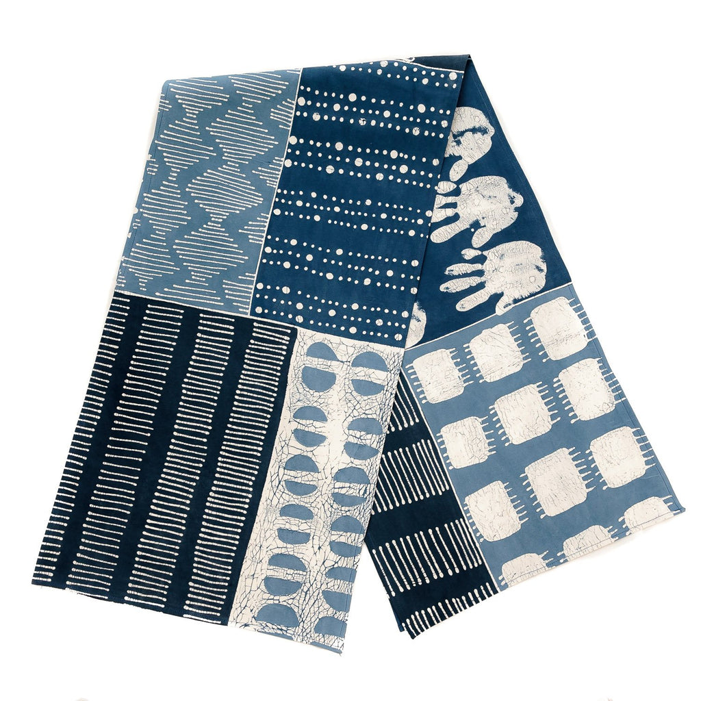 Table Runner Indigo Patchwork from Tribal Textiles