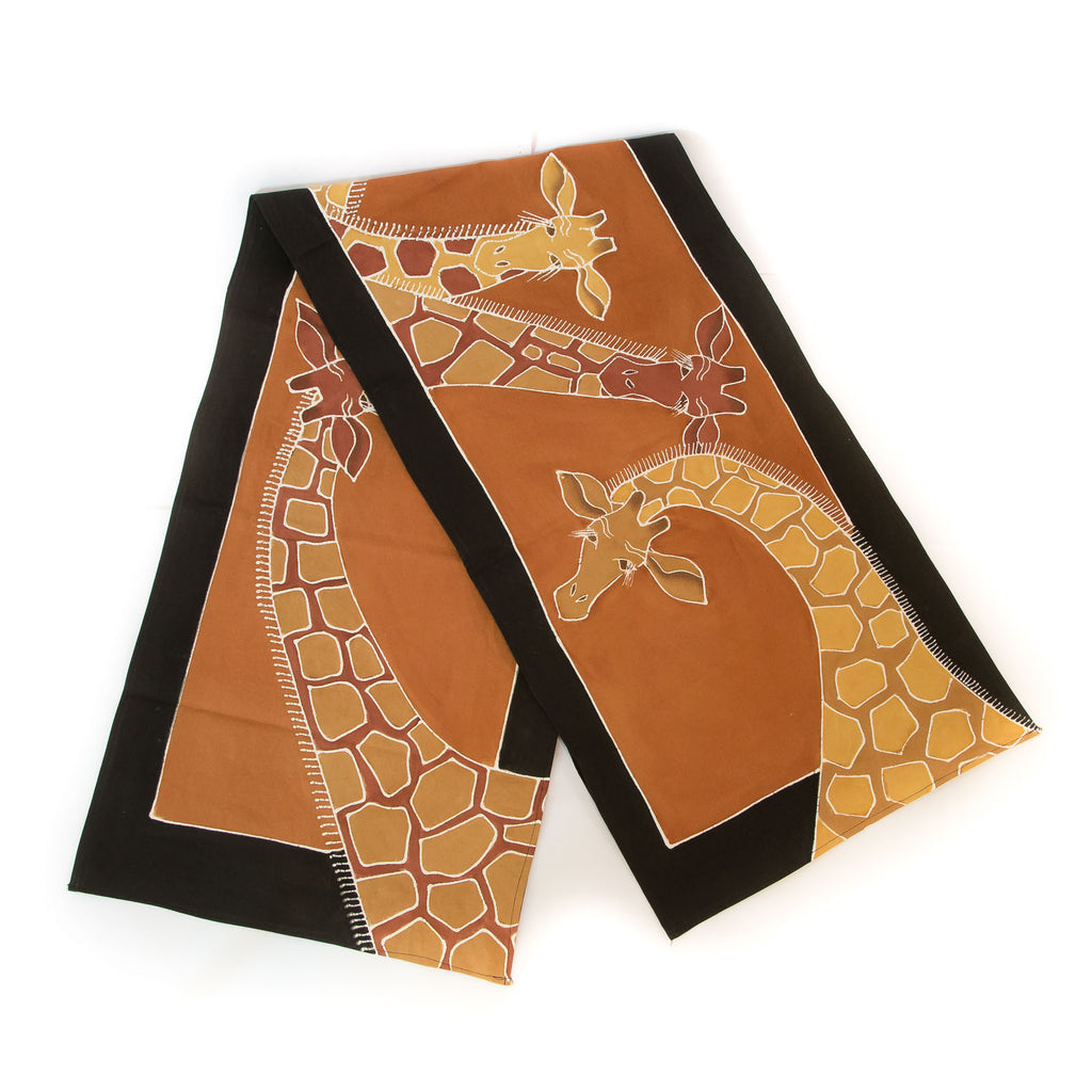 Hand made african print table Runners with giraffe design