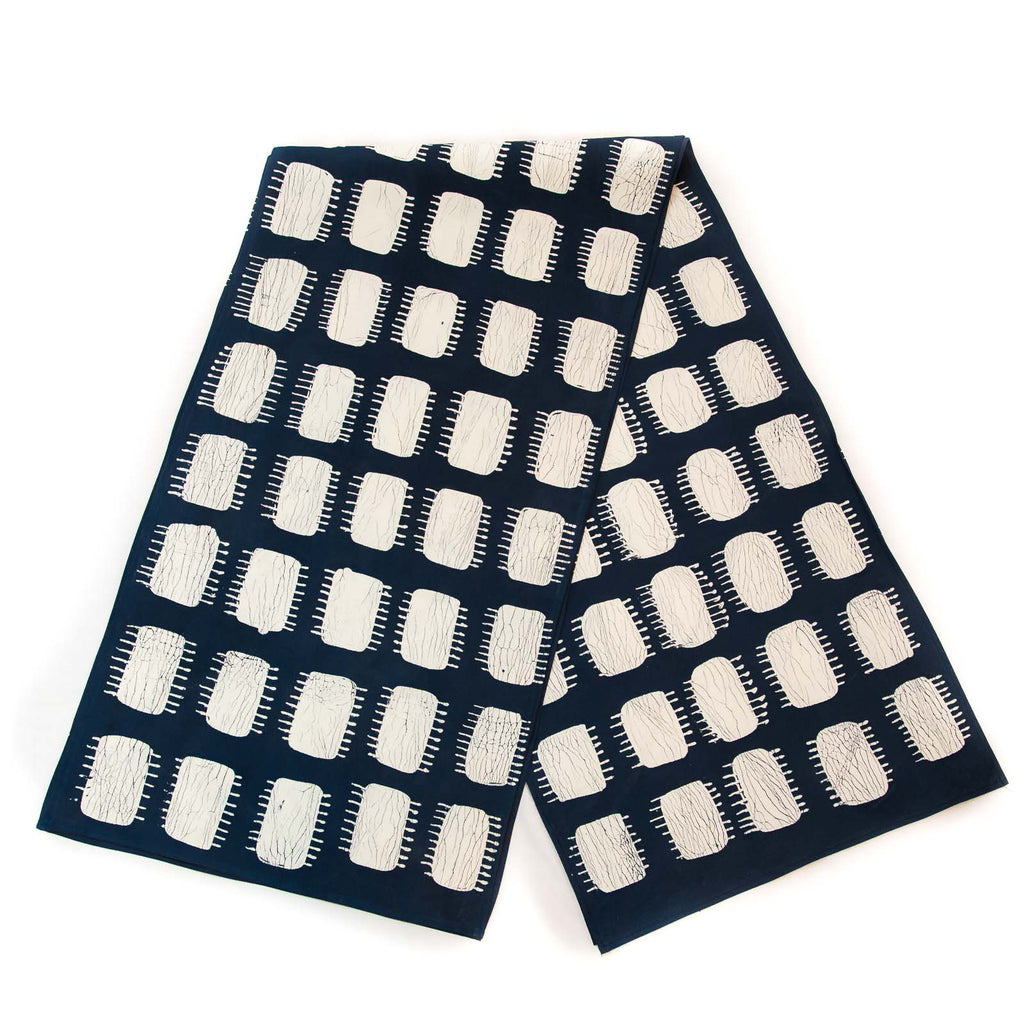 Handmade african inspired table runners indigo