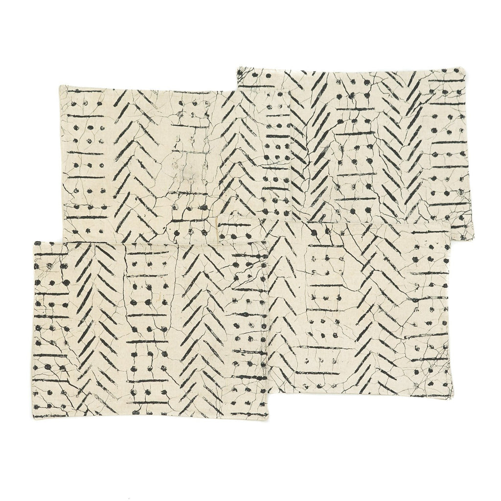 Table Mats - Matika - Linen Black