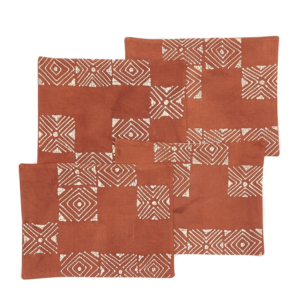 Table Mats - Matika - Rust Grid