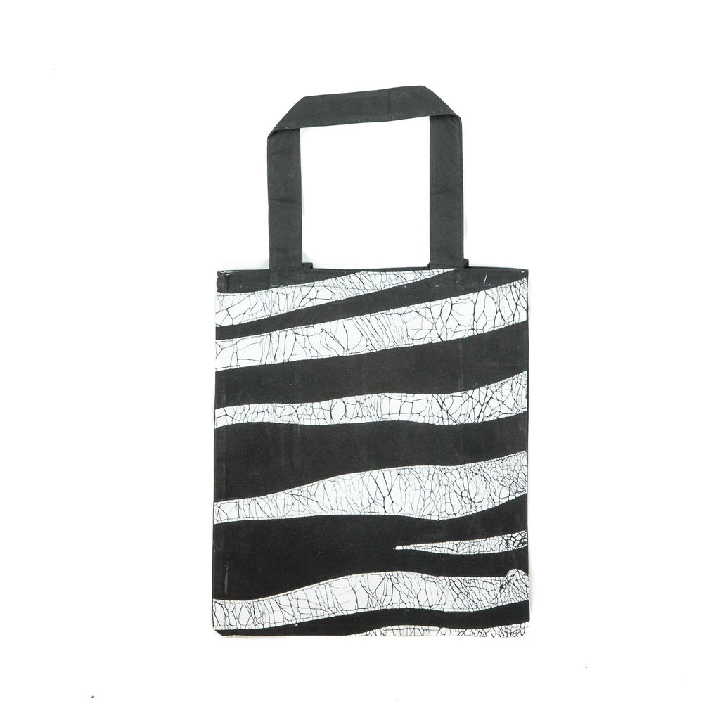 Handmade Bag with Contemporary zebra skin print