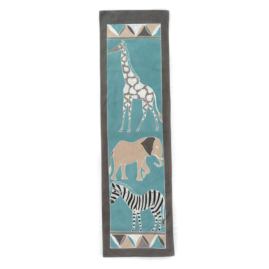 Wall Hangings ~ Safari Animals Teal