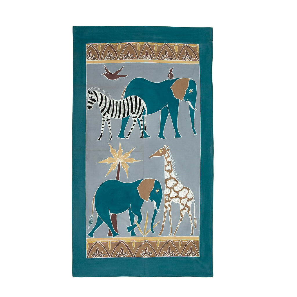 Wall Hangings - Safari Animals Chocolate Blue