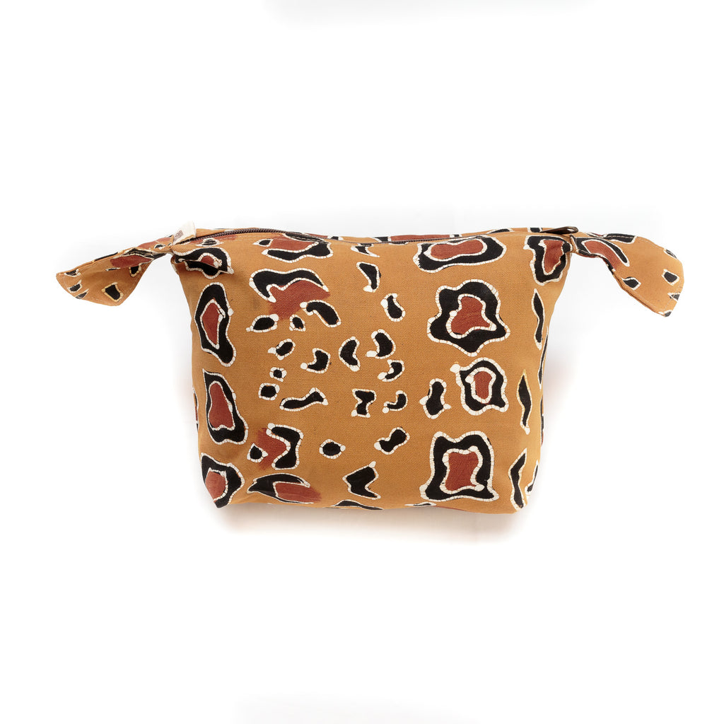 Hand-painted Wash Bags with leopard print