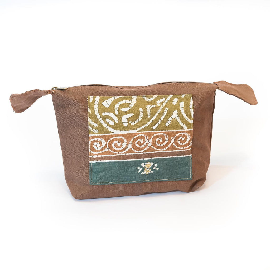 Hand-made safari Wash Bags in green colours