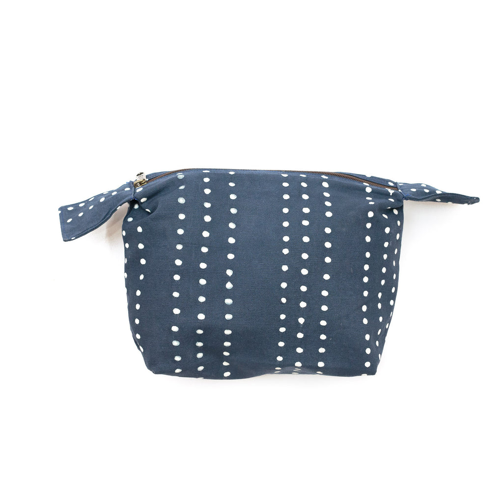 Hand-made Wash Bags in indigo colours
