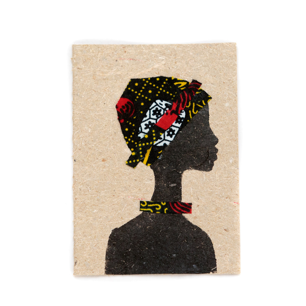 Cards made from recycled banana paper and fabric - People