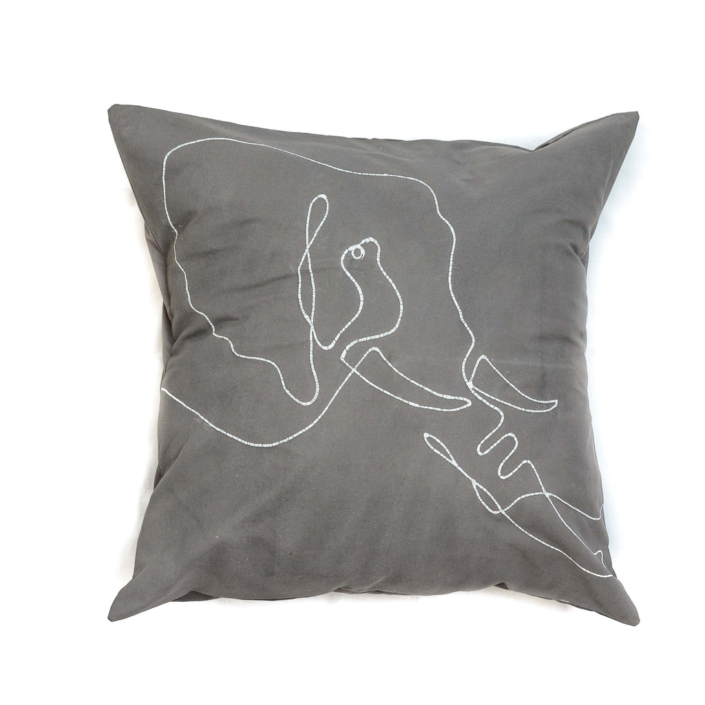 Cushion Cover - Wild Lines Elephant Grey