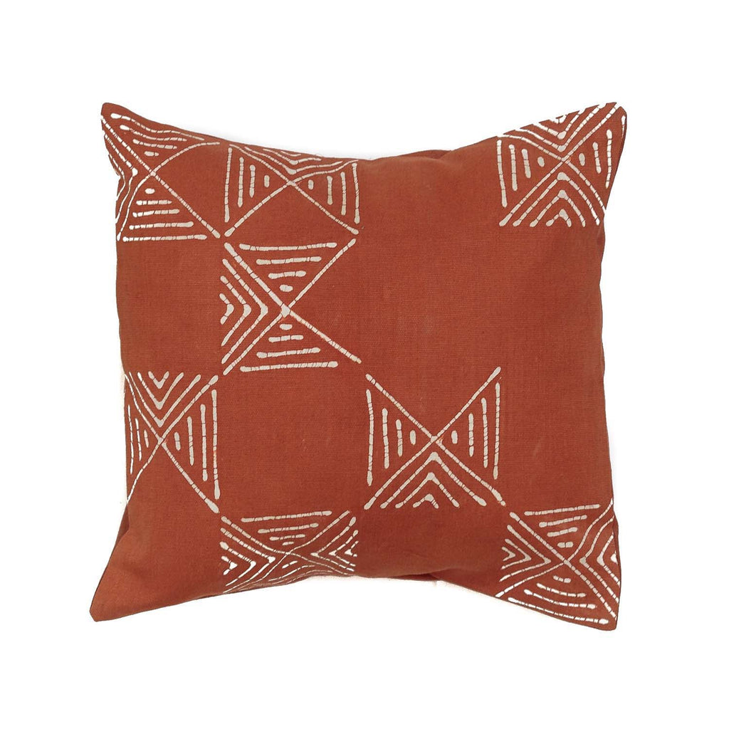 Throw Pillows - Matika - Rust Grid