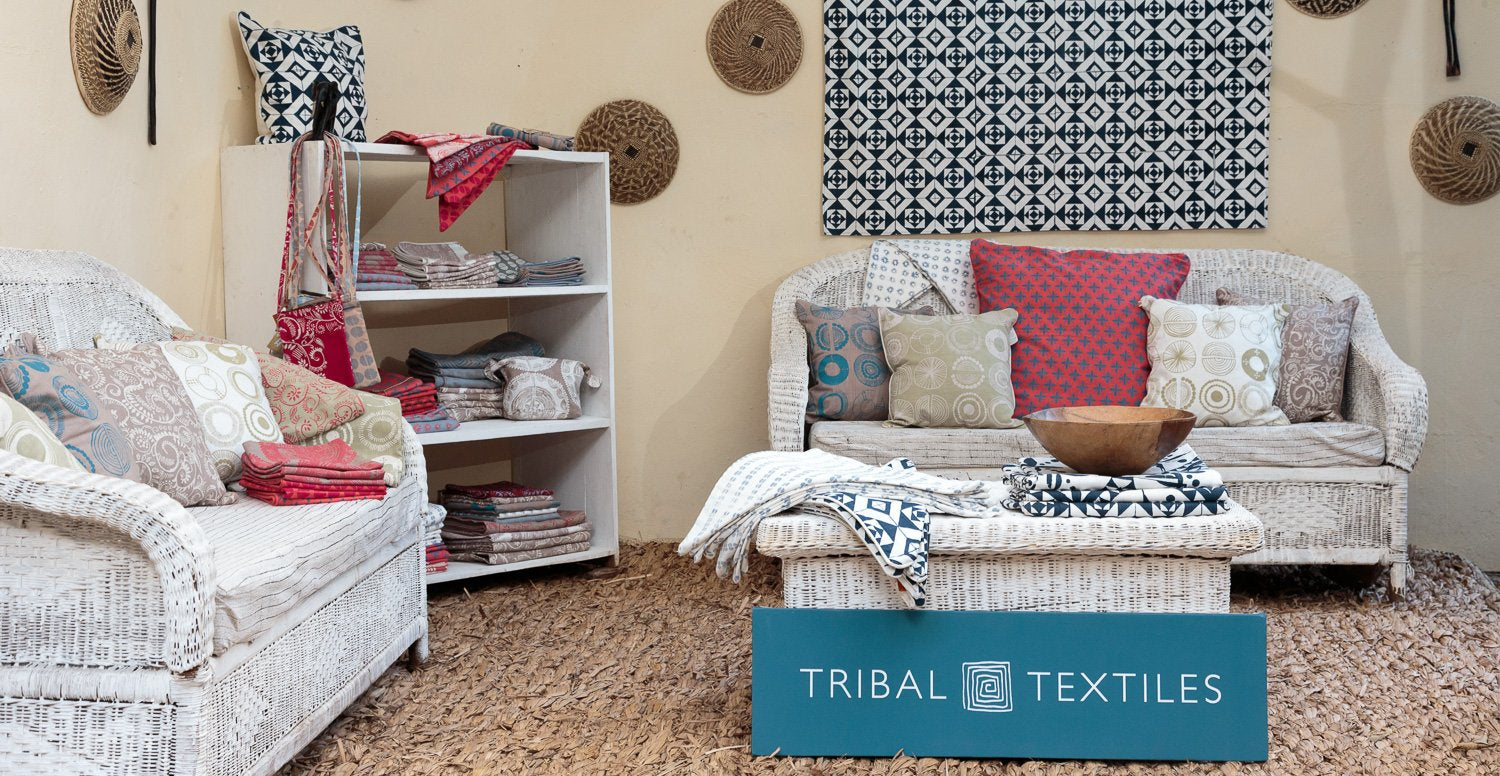 Tribal Textiles contemporary screen print designs in our South Luangwa shop