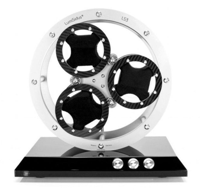 LumiSidus 3 Carbon Stainless Steel Watch Winder on