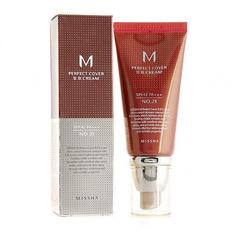 [Missha] Perfect Cover Blemish Balm BB Cream - 50ml (SPF42 PA++) No.23 & No.21