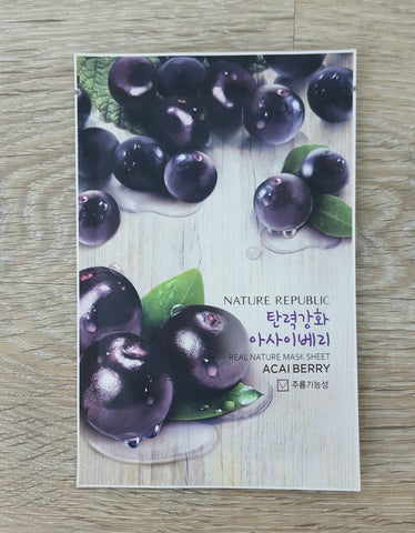 [Nature Republic] Real Nature Mask Sheet -Acai Berry