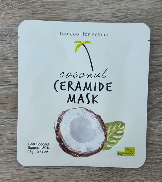 [Too Cool for School] Coconut Ceramide Mask