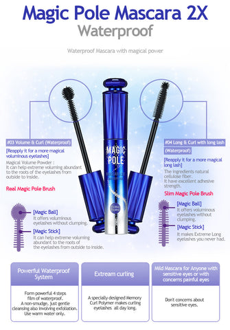 Magic Pole Mascara - Waterproof Black