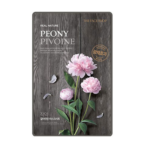 [The Face Shop] Real Nature Face Mask - Peony