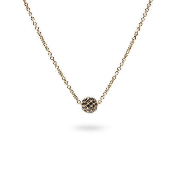 Pavé Necklace / Gold w. Black Diamonds