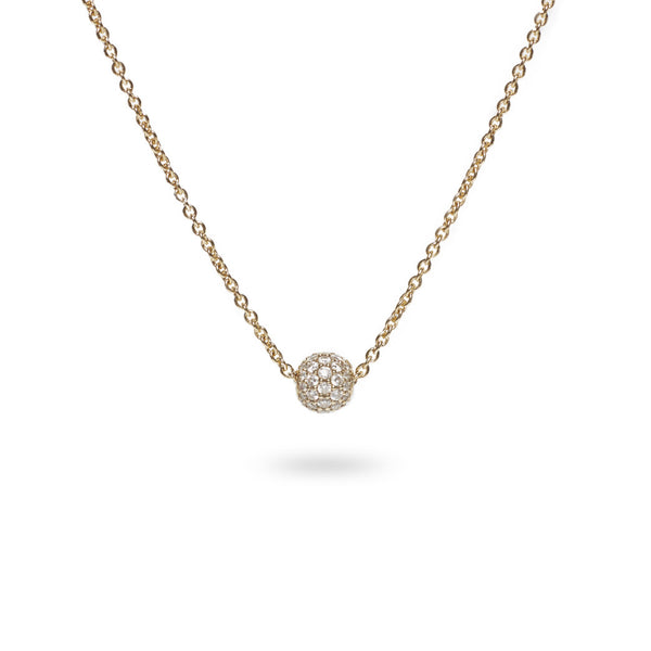 Pavé Necklace / Gold w. White Diamonds