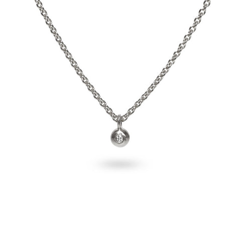 Diamond pendant / Silver