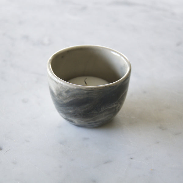 Candleholder in grey