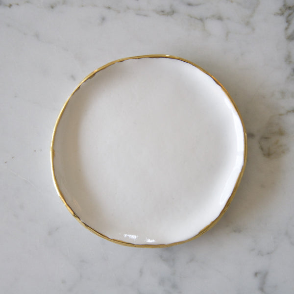 Ring Dish with Gold rim