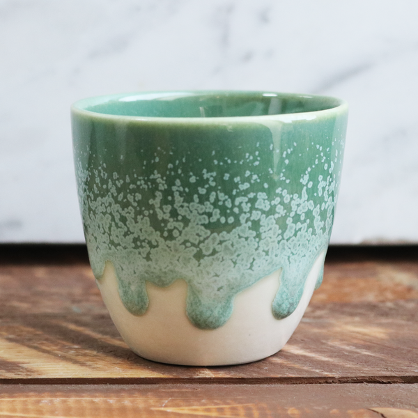 Espresso Cup in Green/White